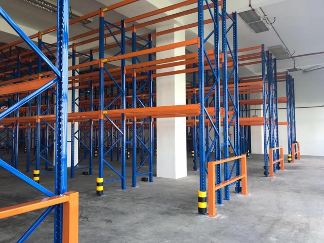 Pallet Racking with full protector barrier
