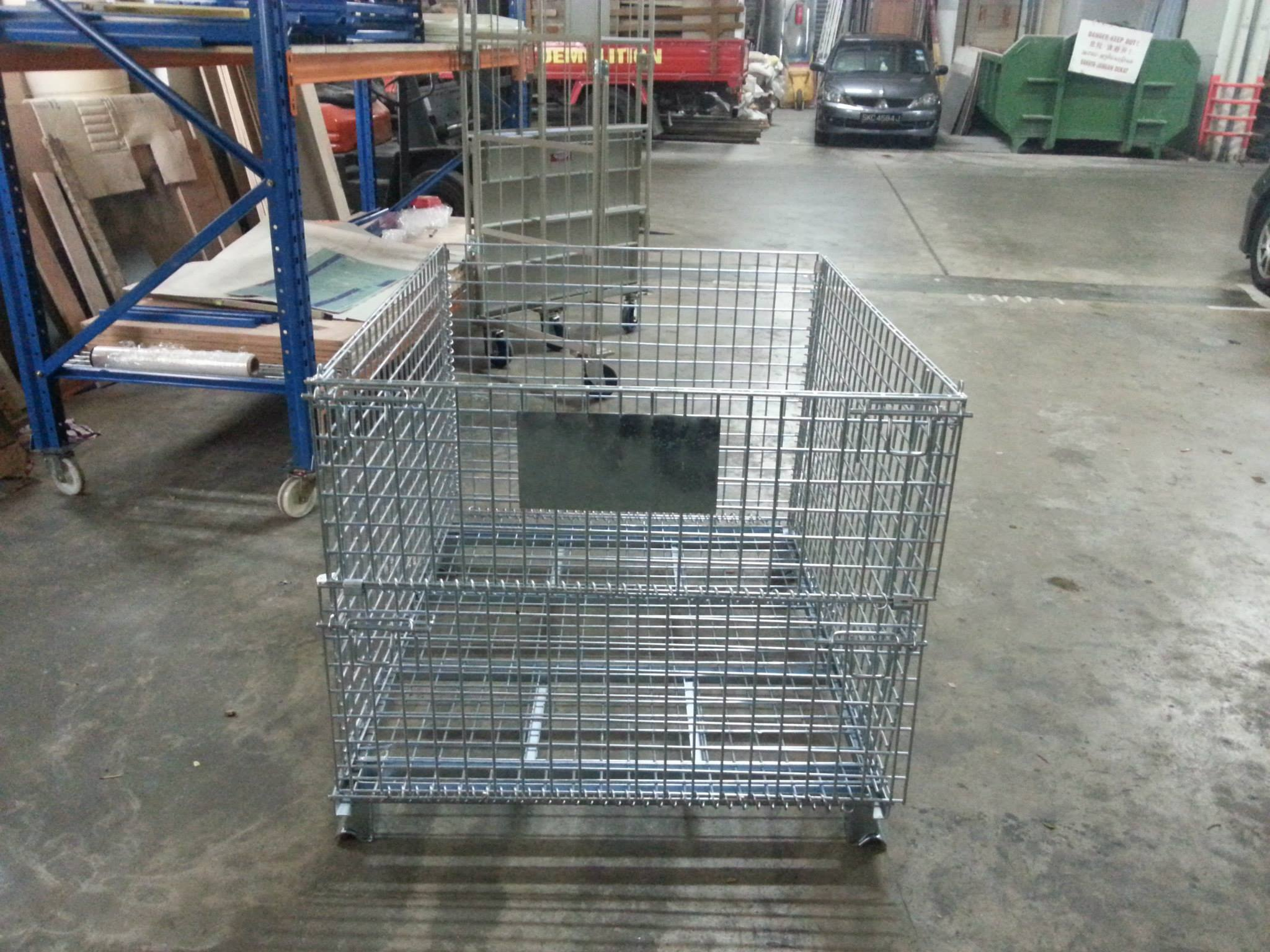 Foldable Wire Mesh Cage Gold Wind Engineering Pte Ltd